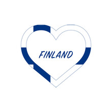 Finland Flag In Heart. I Love ...