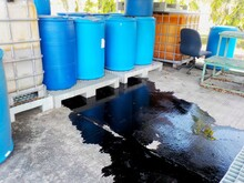 Black Liquid Chemicals Leaking...