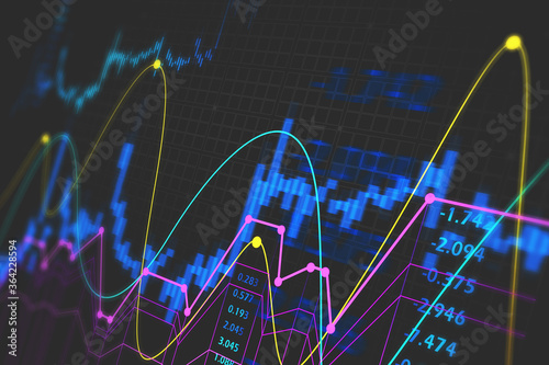 Immersive financial interface and stock chart Canvas