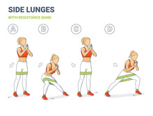 Side Lunges With Resistance Ba...