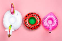 Various Inflatable Toy Rings