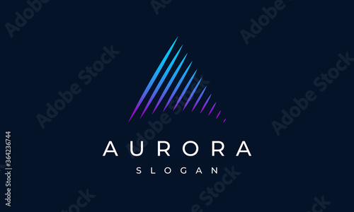 Aurora Letter A Logo Design Wallpaper Mural