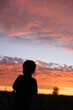 silhouette of a man in sunset