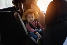A Little Girl On A Trip Sleeps...
