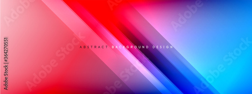 Obraz Motion concept neon shiny lines on liquid color gradients abstract backgrounds. Dynamic shadows and lights templates for text - fototapety do salonu