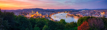 Panoramic Sunset View Of Budap...