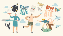 Planes In Our Life Concept. Ad...