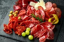 Set Of Salami, Chorizo, Coppa,...