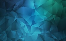 Light Blue, Green Vector Low Poly Texture. Creative Illustration In Halftone Style With Triangles. A Completely New Design For Your Leaflet.