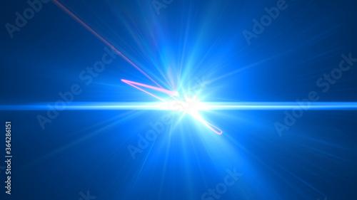 Valokuvatapetti illustration of laser line light ray space