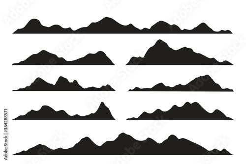 Fototapeta vector silhouette of mountains obraz