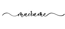 Macrame - Vector Calligraphic ...