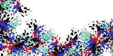 Abstract Doodle Multicolored S...