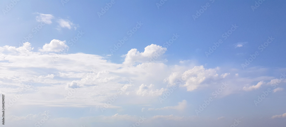 Fototapeta Blue sky clouds background. Beautiful landscape with clouds and day sky