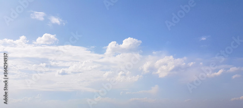 Obraz Blue sky clouds background. Beautiful landscape with clouds and day sky - fototapety do salonu
