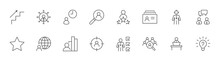 Head Hunting Line Icons. Caree...