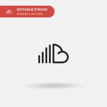Soundcloud Simple Vector Icon....