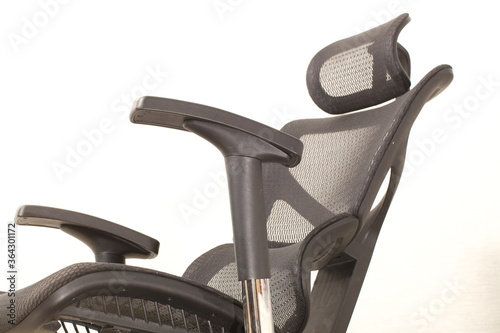 office ergonomic chair with mesh coating. Canvas Print