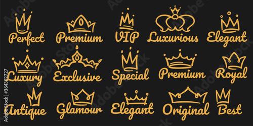 Premium crown logo Billede på lærred
