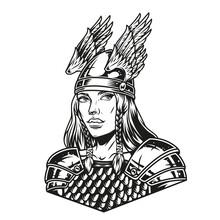 Beautiful Woman Viking Warrior