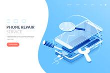 Smartphone Repair Service Vect...