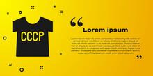 Black USSR T-shirt Icon Isolat...