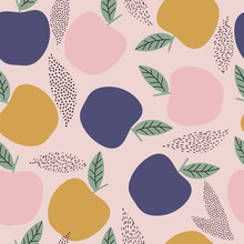 Fresh Apple Seamless Pattern, ...
