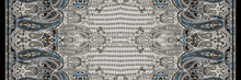 Geometric Pattern.Silk Scarf D...