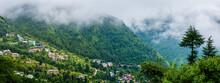 Panoramic View From Mcleod Ganj, Himachal Pradesh, India.