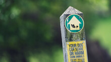 Footpath Marker Sign On A Coun...