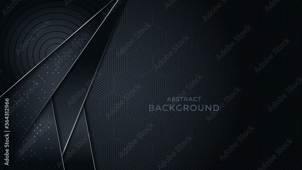Fototapeta Premium luxury background with overlap layer background and patter on background. Vector premium background. Eps10