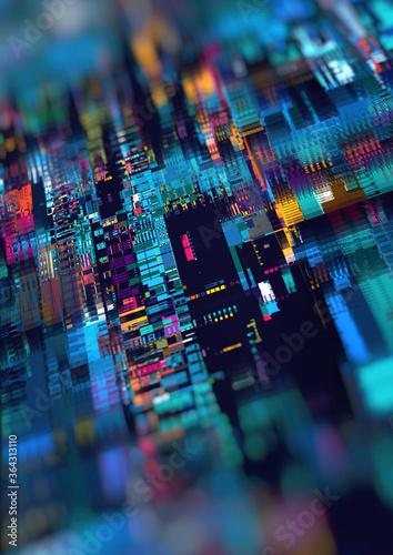 Obraz na plátně Rectangle abstract composition