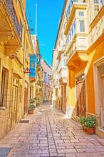 Shady Streets Of Birgu, Malta