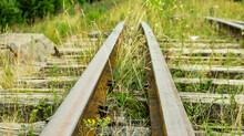 An Old And Broken Overgrown Railway