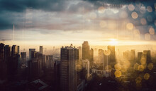 Skyline Of Jakarta Shot Throug...