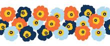 Seamless Vector Flower Border ...