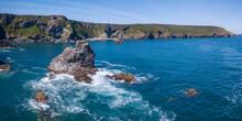 Cornwall, England UK- Aerial V...