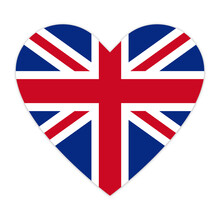 Flag Of Great Britain In Heart...