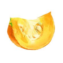 Watercolor Pumpkin Slice, Grea...