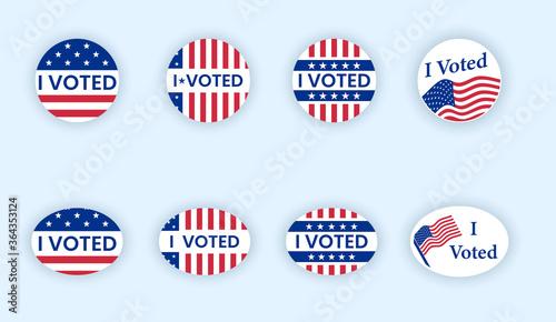 Valokuvatapetti I voted sticker with flattering us american flag.