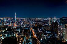 Tokyo, Japan Cityscape View Fr...