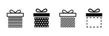 Present Gift Box Icon. Vector ...