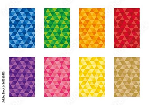 Fotografia 幾何学模様の背景セット 三角形