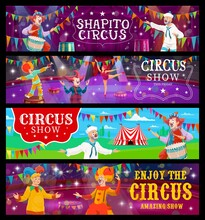 Big Top Tent Circus Banners, F...