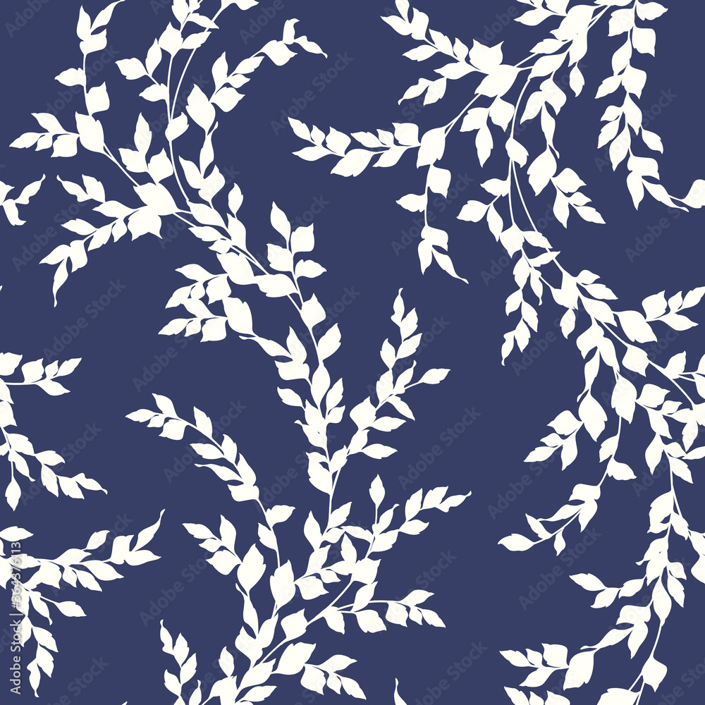 Fototapeta Seamless pattern of a leaf designed simply,