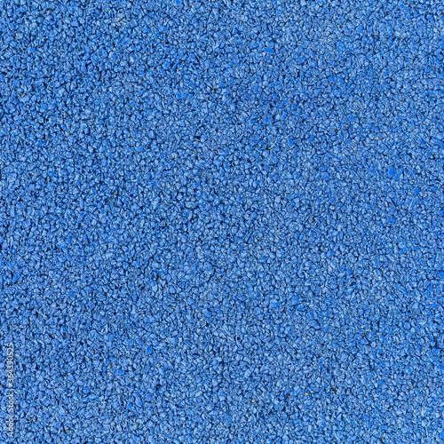 Obraz Blue rubber flooring for treadmill flooring on the court texture and seamless background - fototapety do salonu
