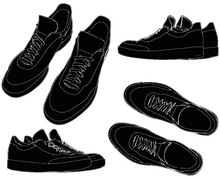Sports Trainers Shoes Vector