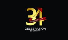 34 Year Anniversary Red Ribbon...