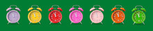 Different Alarm Clocks On Colo...