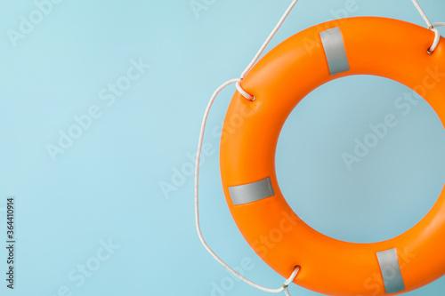 Fotografie, Obraz Lifebuoy ring on color background
